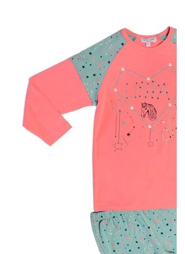 U.S. Polo Assn. Us Polo Assn Lisanslı Kız Çocuk Pijama Takımı Gri Pembe
